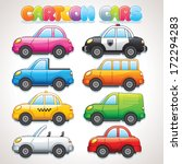 cute cartoon cars. police  taxi ... | Shutterstock .eps vector #172294283
