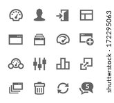 simple icon set related to... | Shutterstock .eps vector #172295063