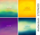 abstract colorful blurred... | Shutterstock .eps vector #172296353