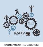 gears design over blue... | Shutterstock .eps vector #172300733