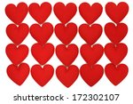 fabric heart  for background | Shutterstock . vector #172302107