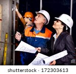 business woman in builder...