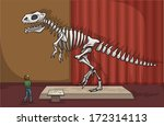 dinosaur exhibit in a museum ... | Shutterstock .eps vector #172314113