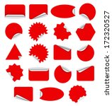 red blank sticky paper set... | Shutterstock .eps vector #172320527