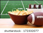 chips  football and six pack of ... | Shutterstock . vector #172332077