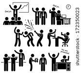 happy boss rewarding employee... | Shutterstock . vector #172350023