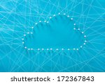 cloud computing. wired cloud... | Shutterstock . vector #172367843