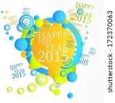 creative art happy new year... | Shutterstock . vector #172370063