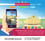 augmented reality poster ...   Shutterstock .eps vector #172370207