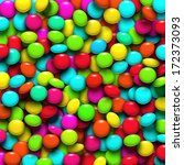 Background With Colorful Candy...