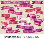 a set of ribbon valentine's... | Shutterstock .eps vector #172388423