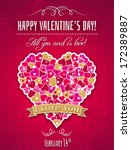 red valentines day greeting... | Shutterstock .eps vector #172389887