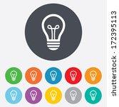 light lamp sign icon. idea... | Shutterstock .eps vector #172395113