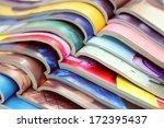 stack of magazines   information   Shutterstock . vector #172395437
