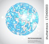 abstract technology globe | Shutterstock .eps vector #172400003