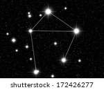 libra zodiac sign bright stars... | Shutterstock . vector #172426277