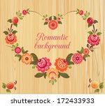 Floral Frame In The Shape Of...