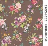 seamless spring flower vector... | Shutterstock .eps vector #172442063