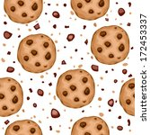 seamless pattern with delicious ... | Shutterstock .eps vector #172453337