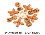 walnuts  cashews  almonds... | Shutterstock . vector #172458293