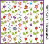 set of funny spring floral... | Shutterstock .eps vector #172479383