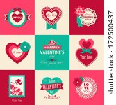 set of valentines day... | Shutterstock .eps vector #172500437