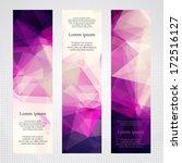 elegant vertical banners with... | Shutterstock .eps vector #172516127