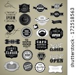 set of vintage retro labels | Shutterstock .eps vector #172518563