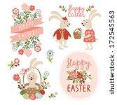 set of easter cards... | Shutterstock .eps vector #172545563