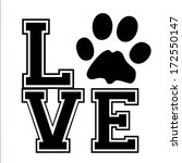 i love my pet   suitable for... | Shutterstock . vector #172550147