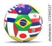 3d render of football with drop ... | Shutterstock . vector #172565117