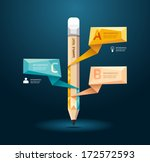 geometric modern design pencil... | Shutterstock .eps vector #172572593