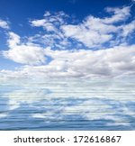 blue sea and clouds on sky | Shutterstock . vector #172616867
