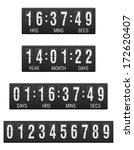 scoreboard countdown timer... | Shutterstock .eps vector #172620407