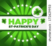 saint patrick day background... | Shutterstock .eps vector #172629953
