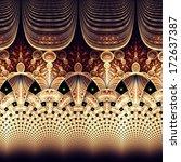 symmetrical fractal flower ... | Shutterstock . vector #172637387