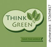 think green   save the world | Shutterstock . vector #172654817