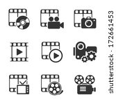 media icon pack on white.... | Shutterstock .eps vector #172661453