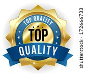 gold blue top quality badge... | Shutterstock .eps vector #172666733