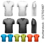 colorful male t shirts. design...   Shutterstock .eps vector #172702487
