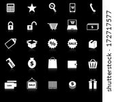 shopping icons with reflect on... | Shutterstock .eps vector #172717577