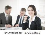 businesswoman in meeting | Shutterstock . vector #172732517