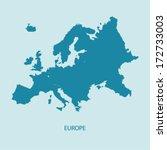 europe map vector | Shutterstock .eps vector #172733003