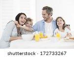 breakfast for an happy family | Shutterstock . vector #172733267