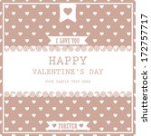 happy valentines day cards  ... | Shutterstock .eps vector #172757717