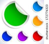 colorful vector blank stickers. | Shutterstock .eps vector #172776323