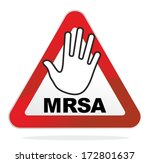 warning sign for the contagious ... | Shutterstock . vector #172801637