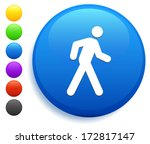 walking icon on round button... | Shutterstock .eps vector #172817147