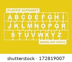plastic model kit alphabet | Shutterstock .eps vector #172819007
