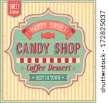 candy shop. vector illustration. | Shutterstock .eps vector #172825037